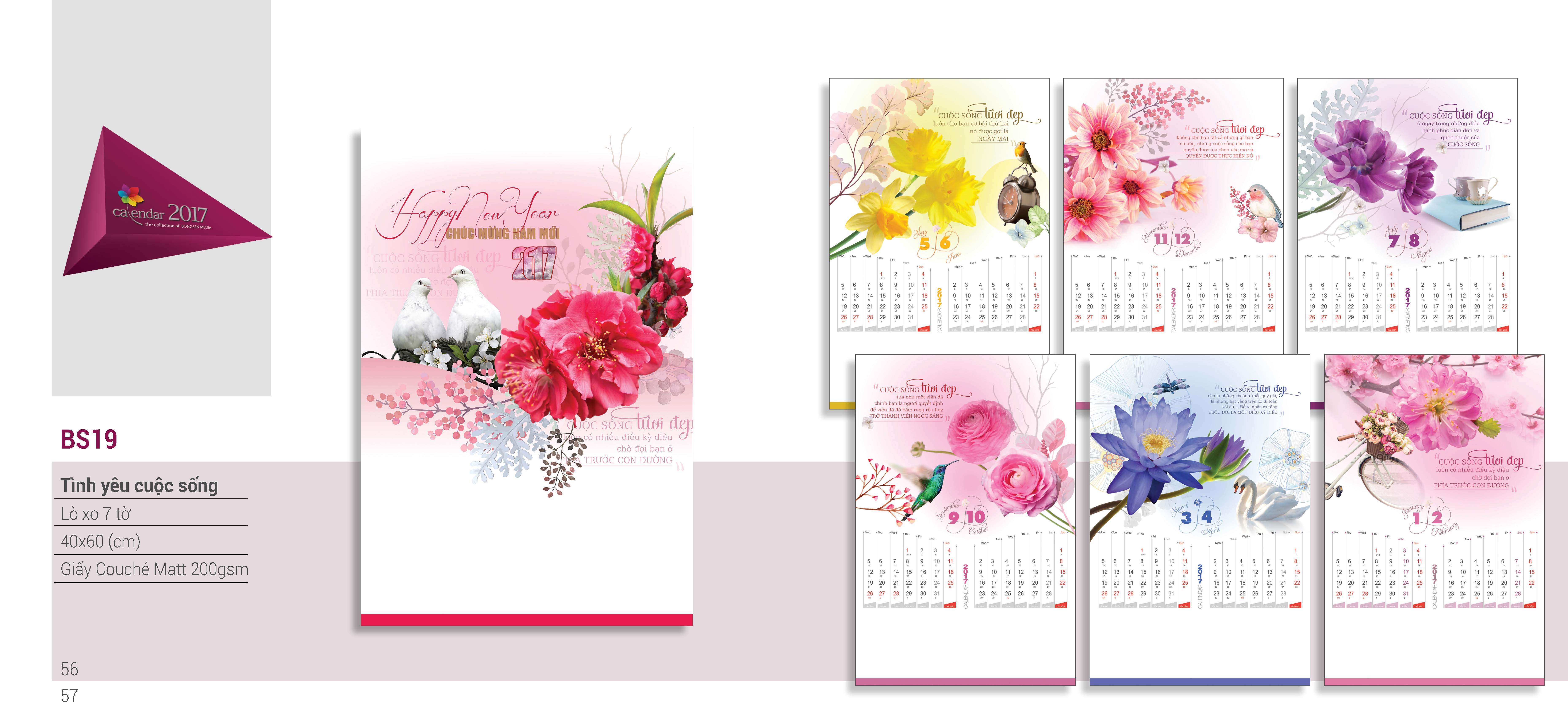 Địa chỉ in lịch block 2017 giá rẻ uy tín nhất Hà Nội